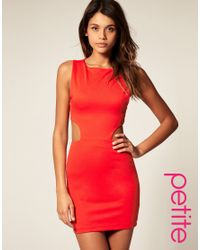 ASOS Collection - Red Asos Bodycon Dress with Cut Out Sides - Lyst