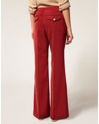 ASOS Collection | Brown Asos Petite Exclusive Hi Waisted Wide Leg Trousers | Lyst
