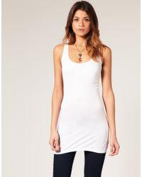 ASOS - White Basic Longline Vest - Lyst