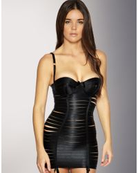 Bordelle - Black Elastic Angela Dress With Padded Cups - Lyst