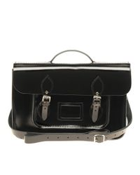 Cambridge Satchel Company - Black 15 Patent Batchel Exclusive To Asos - Lyst