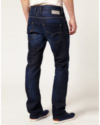 DIESEL | Blue Diesel Krooley 73n Slim Jeans for Men | Lyst