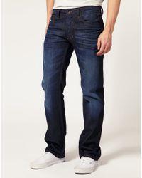 DIESEL   Blue Diesel Larkee 73n Straight Jeans for Men   Lyst