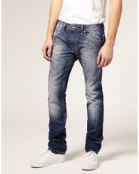 DIESEL | Blue Faded Jeans for Men | Lyst