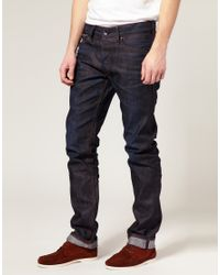 Edwin | Blue Sen Japanese Red Selvedge Dry Shave Jeans for Men | Lyst