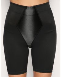 Flexees - Black Easy Up Firm Control Thigh Slimmer Shorts - Lyst