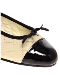 French Sole - Black Simple Classic Quilted Ballet Flat - Lyst