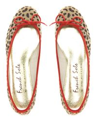 French Sole - Multicolor India Leopard Pony Ballet Shoes - Lyst