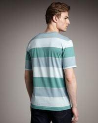 Lacoste - Bar-stripe Tee, Blue-green for Men - Lyst