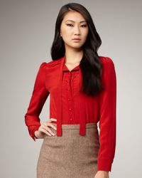 Marc By Marc Jacobs | Red Michaela Silk Blouse | Lyst