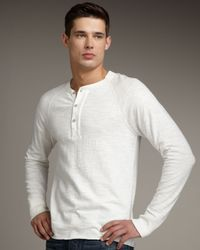 Rag & Bone | White Raglan Sleeve Henley Top for Men | Lyst