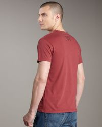 Royal Underground - Red Vi Short-sleeve Henley for Men - Lyst
