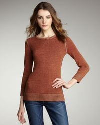 Textile Elizabeth and James | Red Metallic Sweater | Lyst
