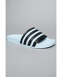 13ab6a87a43b7 Lyst - Adidas The Adilette Sandals in Light Steel in Blue for Men