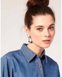 ASOS Collection - Natural Asos Vintage Style Structured Enamel Drop Earrings - Lyst
