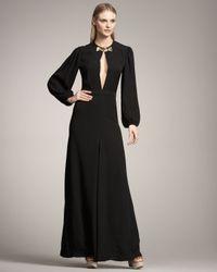 Chloé | Black Keyhole-front Dress | Lyst