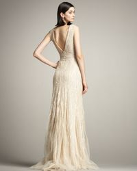 Eastland   Natural Beaded Tulle Gown   Lyst