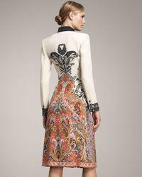 Etro   White Long-sleeve Coat Dress   Lyst