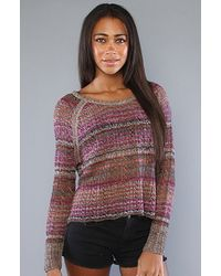 Free People - Pink Lost in The Forest Pullover in Faded Rose - Lyst