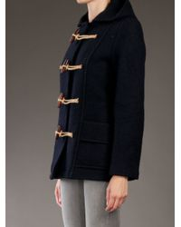 Gloverall - Blue Short Duffle Coat - Lyst