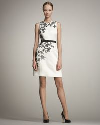 Jason Wu | White Belted Houndstooth Sheath Dress | Lyst
