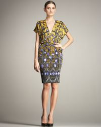 Jean Paul Gaultier - Yellow Cameo-print Jersey Dress - Lyst