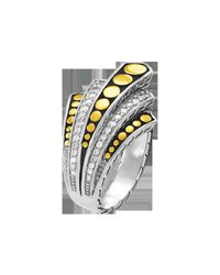 John Hardy | Metallic Dot Deco Gold & Silver Diamond Pavé | Lyst