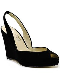 Kors by Michael Kors | Vivian - Black Suede Wedge Slingback | Lyst
