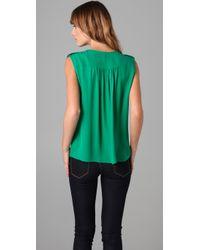 Parker - Green Tab Shoulder Top - Lyst