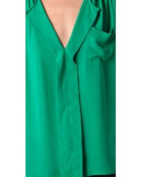 Parker | Green Tab Shoulder Top | Lyst