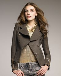 Roberto Cavalli | Brown Double-breasted Military Jacket | Lyst