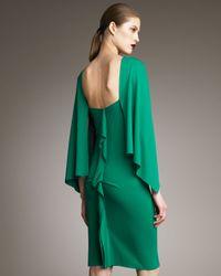 Roland Mouret - Green Ada Cape-effect Dress - Lyst