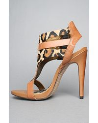 Sam Edelman - Multicolor The Lucia Sandal in Nude Leopard and Saddle - Lyst