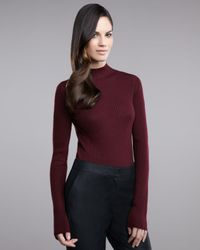 St. John | Purple Jersey Nuda Top | Lyst
