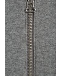 T By Alexander Wang - Gray Cross-over Back Cotton-jersey Jacket - Lyst