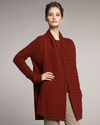 TSE - Red Knit Open Cardigan - Lyst