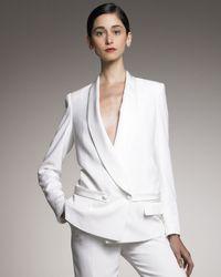 Saint Laurent | White Shawl-collar Tuxedo Jacket | Lyst