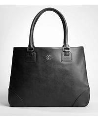Tory Burch | Black Robinson East/west Tote | Lyst