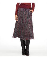 Tory Burch   Brown Eckly Tweed Skirt   Lyst