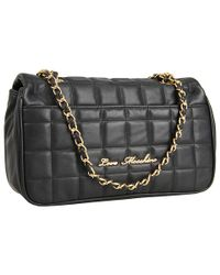 Love Moschino - Black Quilted shoulder bag - Lyst