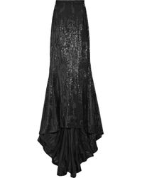 By Malene Birger | Black Acier Sequin-embellished Maxi Skirt | Lyst