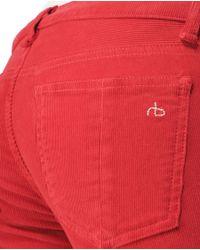 Rag & Bone - Red Skinny - Crimson Cord - Lyst