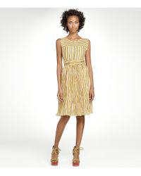 Tory Burch | Yellow Hildy Printed Silk Voile Dress | Lyst