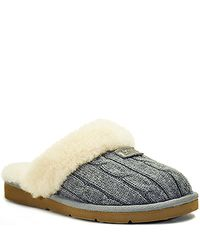 UGG | Black Cozy Knit - Grey Knit Shearling Lined Slipper | Lyst