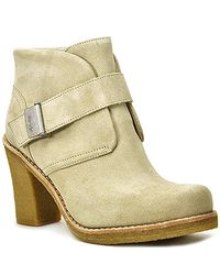UGG | Natural Brienne - Sand Suede Crepe Heel Bootie | Lyst