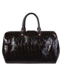Vivienne Westwood | Black Brown Ebury Crocodile Print Doctors Bag | Lyst