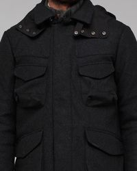Woolrich - Gray Field Jacket for Men - Lyst