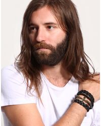 ASOS Collection - Black Asos Chunky Crucifix Bracelet Pack for Men - Lyst