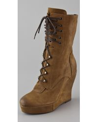 Boutique 9 | Brown Bojana Platform Wedge Boots | Lyst