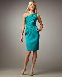 David Meister | Blue One-shoulder Cocktail Dress | Lyst